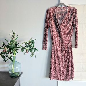 Red Cherry Blossom Long Sleeve Boden Dress